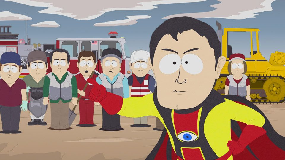 God Bless You Captain Hindsight!! - Video Clips - South Park ...