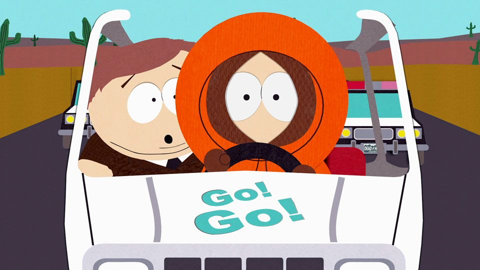 STOP IN THE NAME OF THE LAW!  Low speed chase? South-park-s04e01c05-d-batteries-16x9