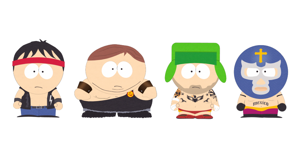 south park characters naked