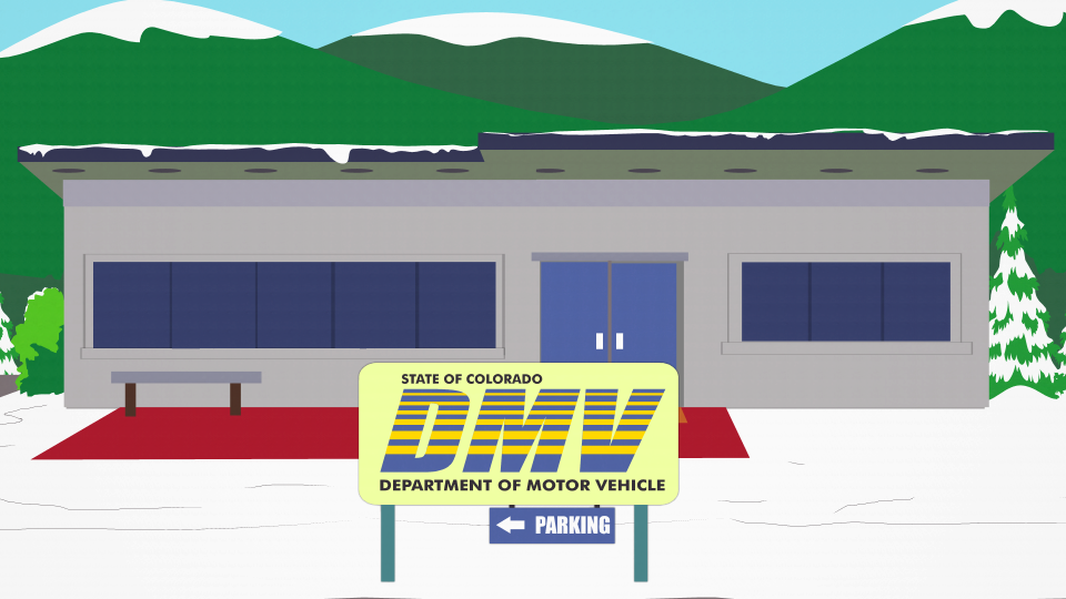 department of motor vehicles official south park studios