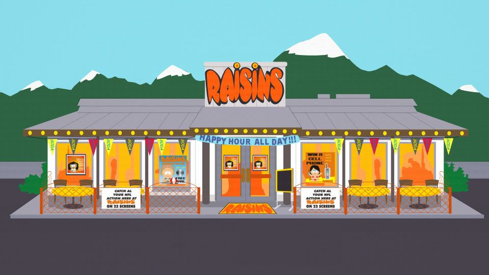 Raisins - Official South Park Studios Wiki | South Park
