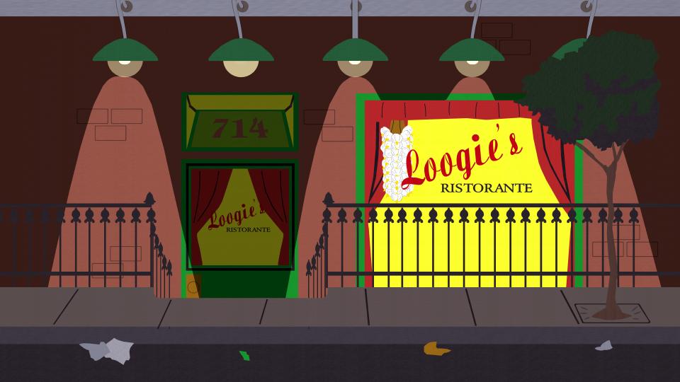 Loogie 39 S Ristorante Official South Park Studios Wiki