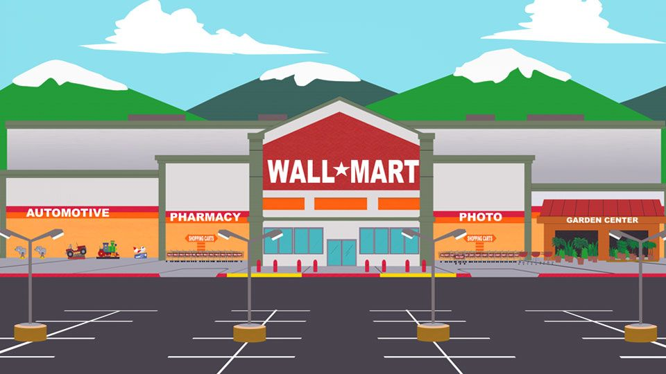 wall mart goes south