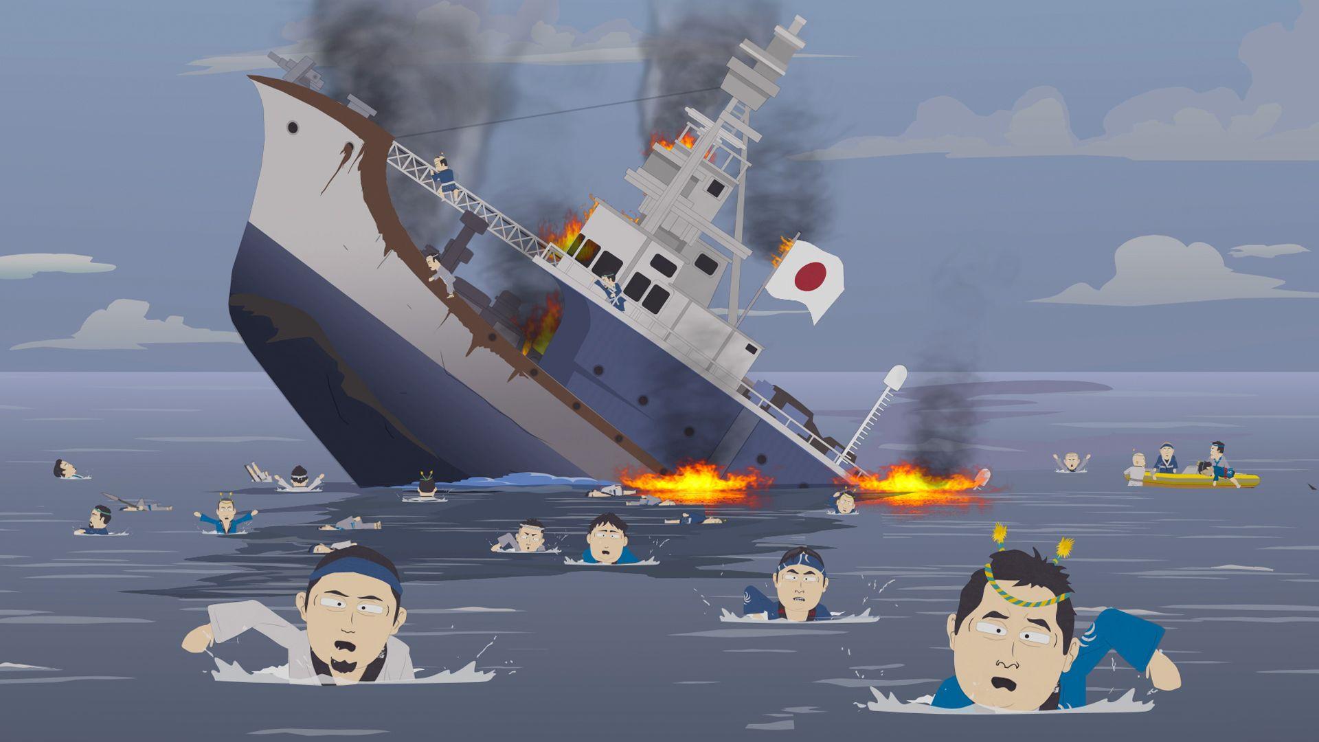 что корабль тонет гифка новорожденной