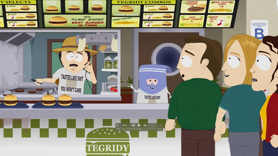 Tegridy Burger Grand Opening Video Clip South Park Studios